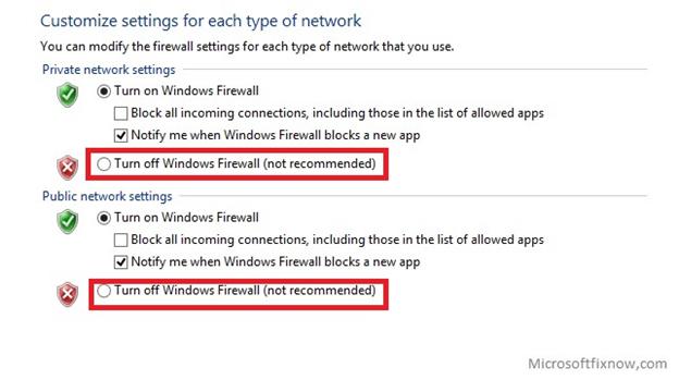 customize firewall settings